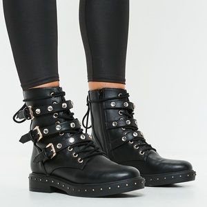 Shoes - Brand New Women's Embellished Combat boots